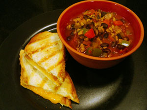 Southwestern Turkey Chili for Two