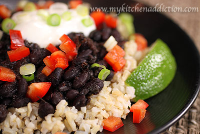 Serve over brown rice, garnishing with your favorite toppings. My ...