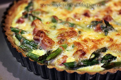 Crustless Quiche With Ham, Asaparagus, And Gruyere Recipe — Dishmaps