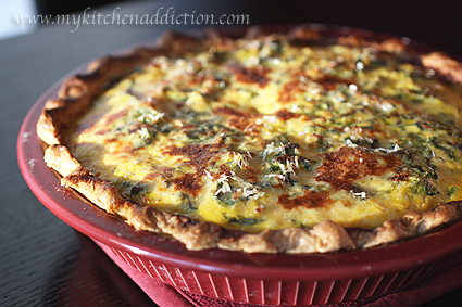 Butternut Quiche with Kale and Sausage | my kitchen addiction