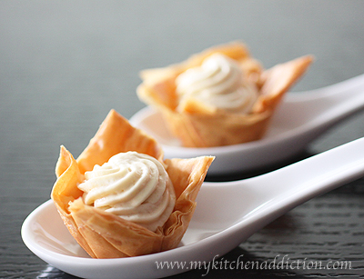... waffle waffle chips maple mousse in waffle cup waffle cup maple mousse