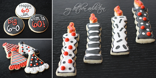 Surprise 60th Birthday Cookies