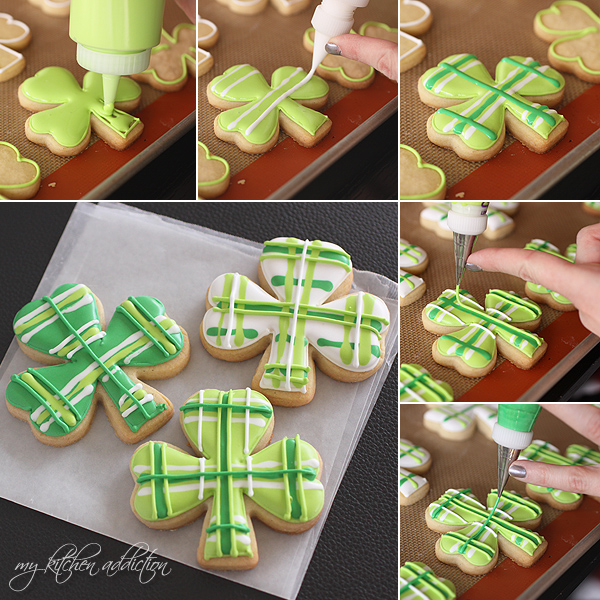 Polka Dot and Plaid Shamrock Cookies | Decadent St. Patrick's Day Cookies You'll Love