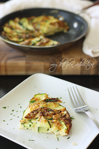 Apple, Zucchini, and Cheddar Frittata – my kitchen addiction