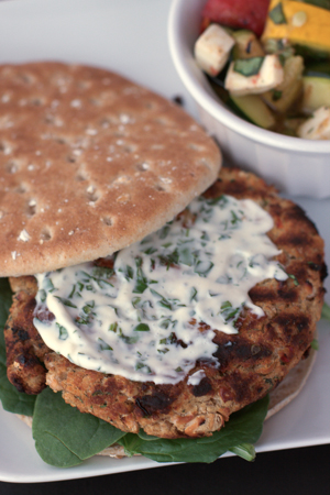 white bean burgers with sundried tomatoes and herbs makes 6 burgers ...