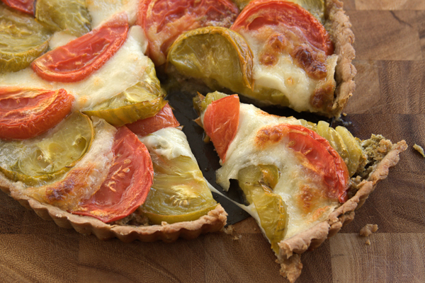 Heirloom Tomato Tart with Mozzarella and Pesto – my kitchen ...