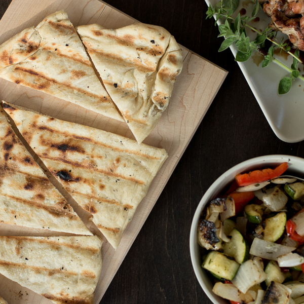 Roasted Garlic and Herb Flatbreads on the Grill