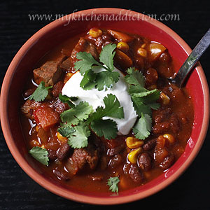Super Bowl Appetizer Southwest Steak Chili